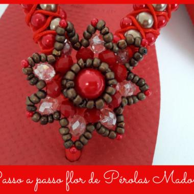 Passo a passo flor de Pérolas Madona