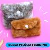 BOLSA PELÚCIA FEMININA